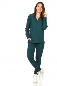 D-ETOILES CASIOPE |  Travelwear blouse Veritas | blue  | Picture 3