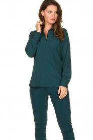 D-ETOILES CASIOPE |  Travelwear blouse Veritas | blue  | Picture 2