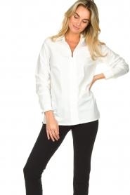 D-ETOILES CASIOPE | Travelwear blouse Veritas | wit  | Afbeelding 5