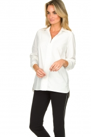 D-ETOILES CASIOPE |  Travelwear blouse Veritas | white  | Picture 2
