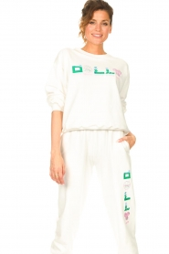 Dolly Sports | Basic trui Team Dolly | wit  | Afbeelding 4