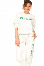 Dolly Sports | Basic trui Team Dolly | wit  | Afbeelding 2