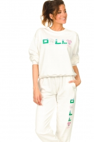 Dolly Sports | Basic trui Team Dolly | wit  | Afbeelding 6