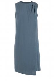 By Malene Birger | Asymmetrische jurk Junni | blauw  | Afbeelding 1