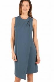 By Malene Birger | Asymmetrische jurk Junni | blauw  | Afbeelding 2