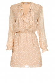 Patrizia Pepe |  Dress with dots print Jenny  | beige  | Picture 1