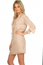 Patrizia Pepe |  Dress with dots print Jenny  | beige  | Picture 4