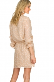 Patrizia Pepe |  Dress with dots print Jenny  | beige  | Picture 5
