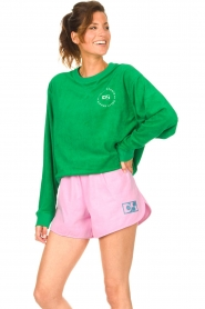 Dolly Sports |  Sweater with towel fabric Classic DS | green  | Picture 5