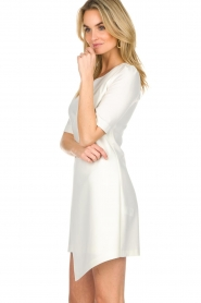 Patrizia Pepe |  Dress with wrap detail Wonder | white  | Picture 5
