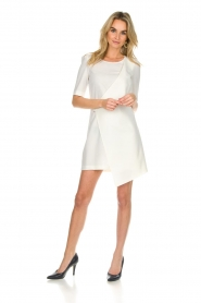 Patrizia Pepe |  Dress with wrap detail Wonder | white  | Picture 3