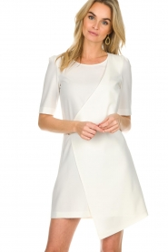 Patrizia Pepe |  Dress with wrap detail Wonder | white  | Picture 2