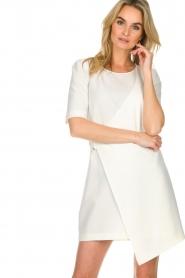 Patrizia Pepe |  Dress with wrap detail Wonder | white  | Picture 4