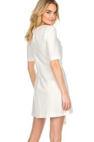 Patrizia Pepe |  Dress with wrap detail Wonder | white  | Picture 6