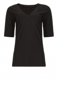 D-ETOILES CASIOPE |  Travelwear v-neck top Vertigo | black  | Picture 1
