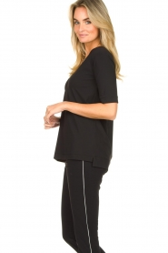 D-ETOILES CASIOPE |  Travelwear v-neck top Vertigo | black  | Picture 4