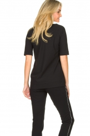 D-ETOILES CASIOPE |  Travelwear v-neck top Vertigo | black  | Picture 6