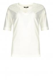 D-ETOILES CASIOPE |  Travelwear v-neck top Vertigo | white  | Picture 1