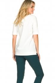 D-ETOILES CASIOPE |  Travelwear v-neck top Vertigo | white  | Picture 7