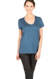 By Malene Birger | T-shirt Fevia | blauw  | Afbeelding 2