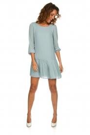 Patrizia Pepe |  Dress with pleat details Rora | blue  | Picture 3