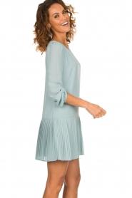 Patrizia Pepe |  Dress with pleat details Rora | blue  | Picture 6