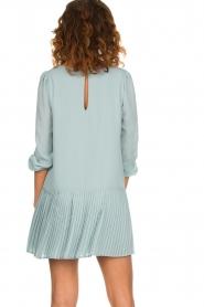 Patrizia Pepe |  Dress with pleat details Rora | blue  | Picture 7