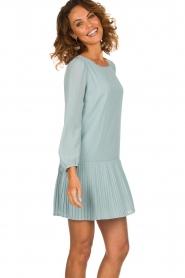 Patrizia Pepe |  Dress with pleat details Rora | blue  | Picture 2