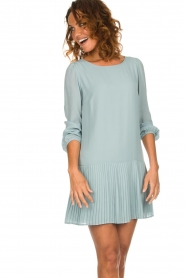 Patrizia Pepe |  Dress with pleat details Rora | blue  | Picture 5