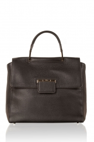 Leather shoulder bag Artesia M | black