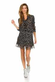 Patrizia Pepe    Skirt with dots print Rora   black    Picture 3