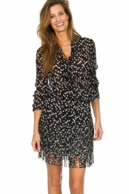 Patrizia Pepe    Skirt with dots print Rora   black    Picture 2