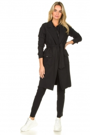 D-ETOILES CASIOPE |  Travelwear coat Vivienne | black  | Picture 2