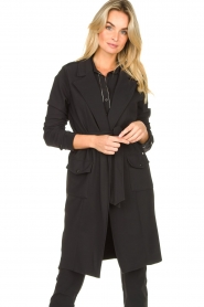 D-ETOILES CASIOPE |  Travelwear coat Vivienne | black  | Picture 4