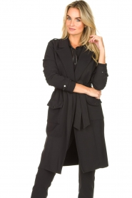 D-ETOILES CASIOPE |  Travelwear coat Vivienne | black  | Picture 6