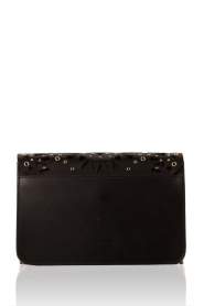 Leather shoulder bag Metropolis Bolero | black