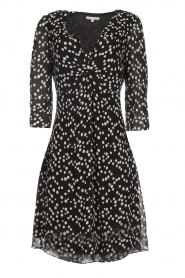 Patrizia Pepe |  Dress with dots print Lore | black  | Picture 1