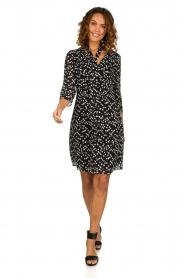 Patrizia Pepe |  Dress with dots print Lore | black  | Picture 3