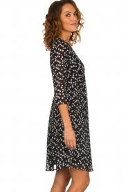 Patrizia Pepe |  Dress with dots print Lore | black  | Picture 5
