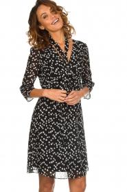 Patrizia Pepe |  Dress with dots print Lore | black  | Picture 2