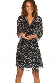 Patrizia Pepe |  Dress with dots print Lore | black  | Picture 4