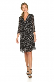 Patrizia Pepe |  Dress with dots print Lore | black  | Picture 3
