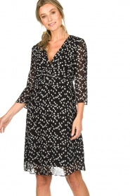 Patrizia Pepe |  Dress with dots print Lore | black  | Picture 2