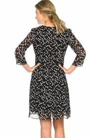 Patrizia Pepe |  Dress with dots print Lore | black  | Picture 6