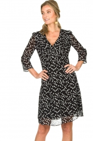 Patrizia Pepe |  Dress with dots print Lore | black  | Picture 4