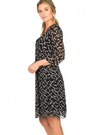 Patrizia Pepe |  Dress with dots print Lore | black  | Picture 5