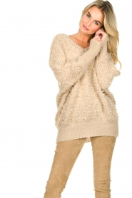 Be Pure |  Soft loop knit sweater Anne | beige  | Picture 2