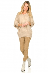 Be Pure |  Soft loop knit sweater Anne | beige  | Picture 3