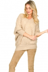 Be Pure |  Soft loop knit sweater Anne | beige  | Picture 4