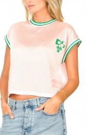 Dolly Sports | Mesh T-shirt Martina | roze  | Afbeelding 8